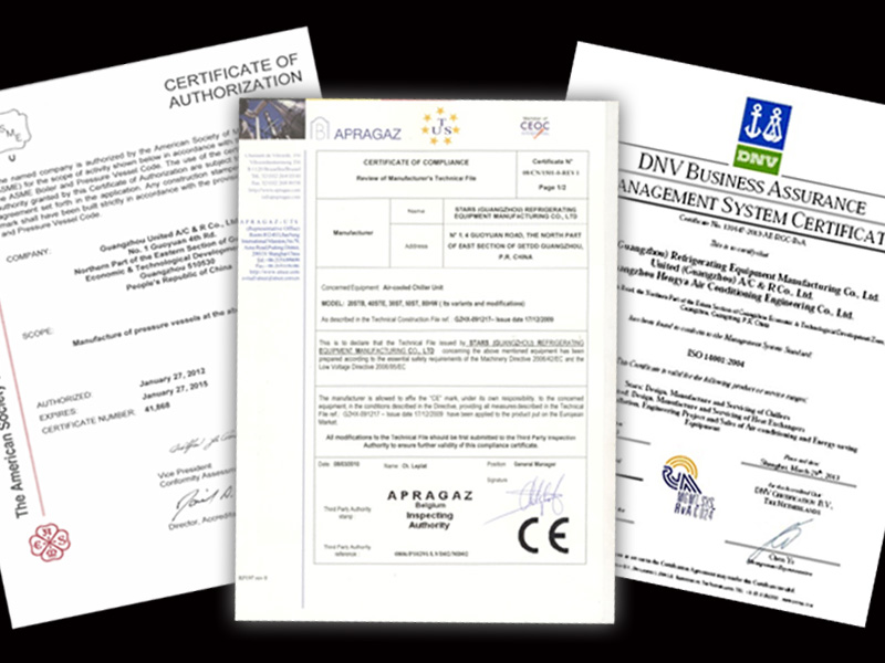 Certificates approved